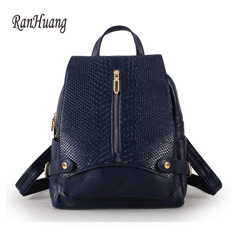 RanHuang New 2018 Women Genuine Leather Backpack Fashion Alligator Backpack Ladies Casual Backpack School Bags For Teenage Girls cartoon melanie martinez crybaby backpack for teenage girls school bags backpack women casual daypack ladies travel bags