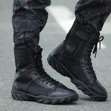 2017 Hombres Zapatos Al Aire Libre Del Ejército Táctico Militar Botas de Combate Negro Viajes Senderismo Botas Botines Otoño Invierno Botas Tatico