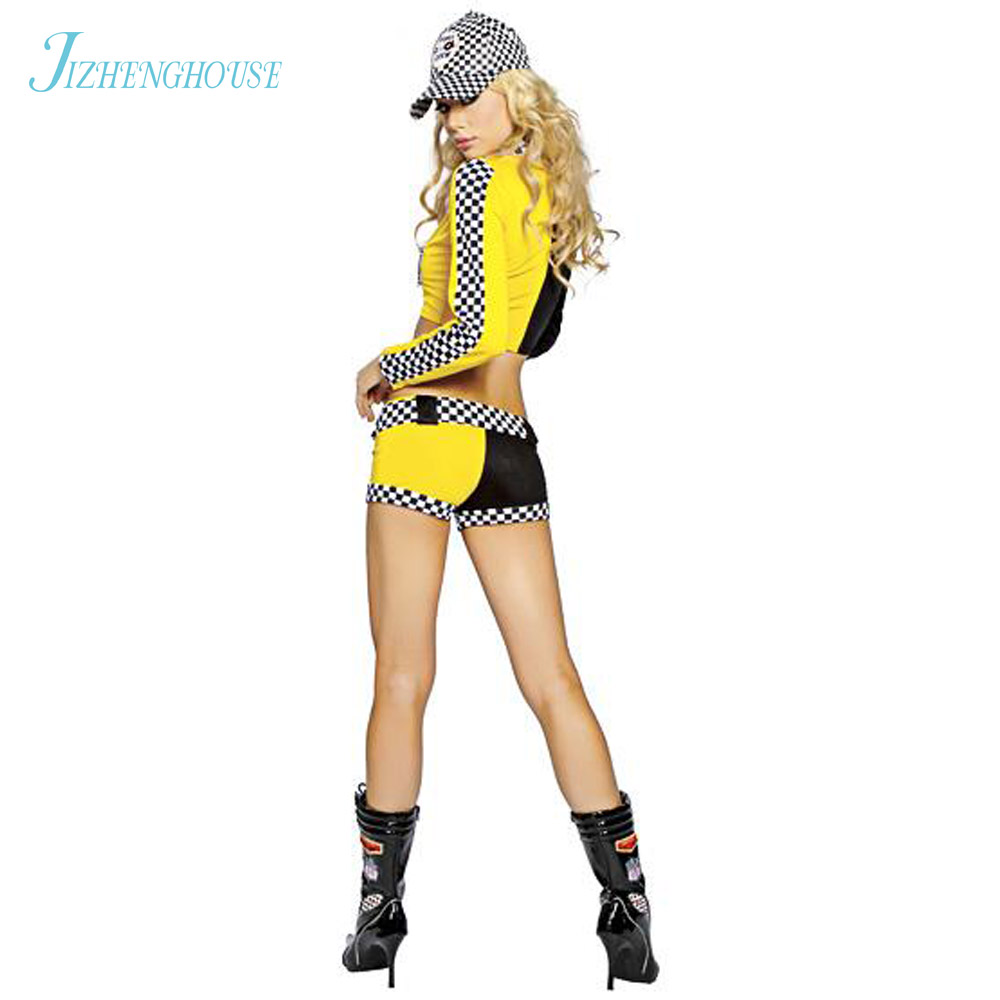 JIZHENGHOUSE Race Car Costumes Uniforms Sexy Race Car Driver Halloween Costumes Women 2 piece Crop Top With Shorts Game Cosplay on Aliexpress.com | Alibaba ...  sc 1 st  AliExpress.com & JIZHENGHOUSE Race Car Costumes Uniforms Sexy Race Car Driver ...