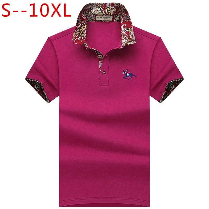 2019 New Fashion Mens Polo Shirt For Men Polos Men Loose Short Sleeve Comfortable Polo Plus Size 6XL 7XL 8XL 9XL 10XL