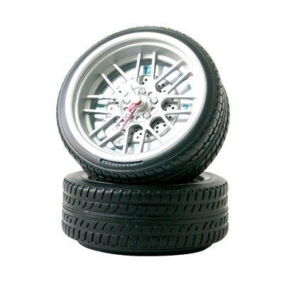 Dual tires clock high quality 10*10*8 cm beauty design 5 PCS/LOT  free shipping