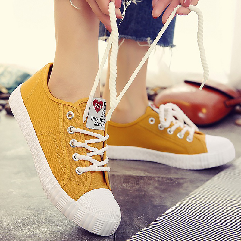 Canvas shoes for girls 2019 Spring Fashion Sneakers Solid Sewing Women Denim Shoe Sapato Feminino Size 35-40Canvas shoes for girls 2019 Spring Fashion Sneakers Solid Sewing Women Denim Shoe Sapato Feminino Size 35-40