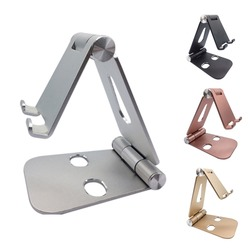 Aluminiowy stojak na Tablet metalowy uchwyt na telefon komórkowy składany uchwyt regulowany uchwyt na iPhone X 8 7 Samsung na Apple iPad