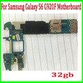 32 gb versão europa desbloqueado para samsung galaxy s6 g920f motherboard com batatas fritas, 100% original & bom trabalho frete grátis