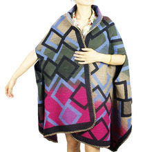 jzhifiyer YX189 320G 67*190cm Fashion Long Scarf Pashminas Wrap Cape Stole Sleeved Ponchos Shawls