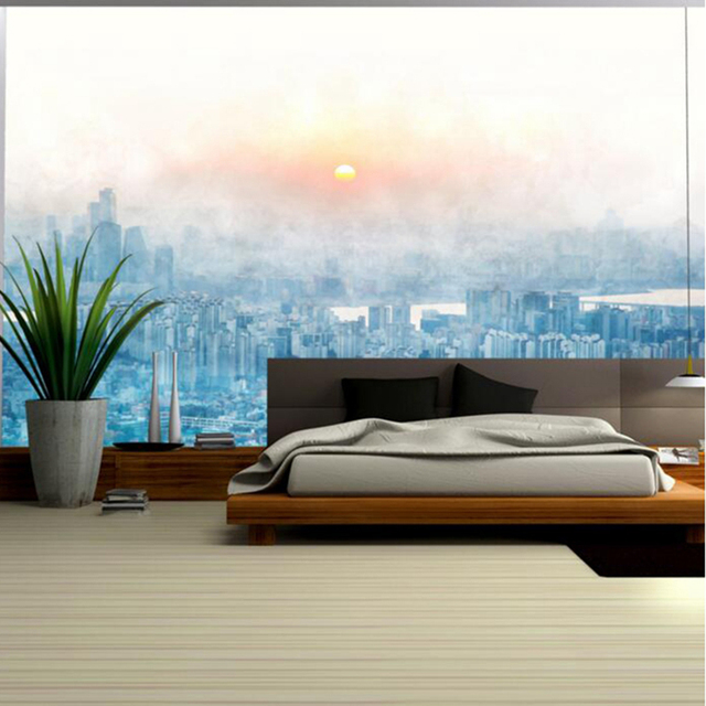 Large Wall Decor Abstract Nordic Sunset Cityscape