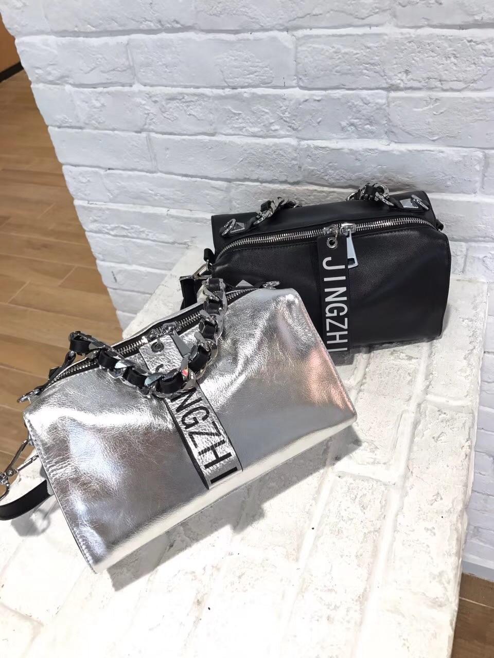 2018 new arrival women genuine leather wide shoulder strap messenger handbag retro famous brand designer Boston European bags цена