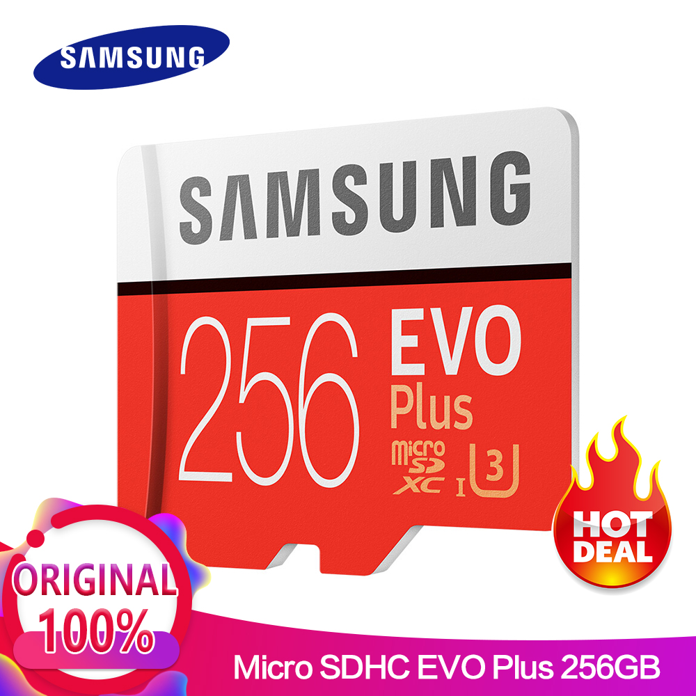 Scheda di Memoria SAMSUNG micro sd 256 gb EVO Più Class10 95 mb/s Impermeabile TF Memoria Sim Card Trans Mikro Card Per smart phone 256 gb