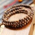 Wholesale Tibet Jewelery High Quality Vietnam Natural Agarwood Multiturn Buddha Bracelet 6mm Men / Women Gift Religion Charm