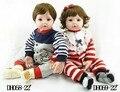 """22 """"meninas brinquedos presente collectible adora criança gêmeos reborn baby dolls em roupas de algodão cor de rosa"""