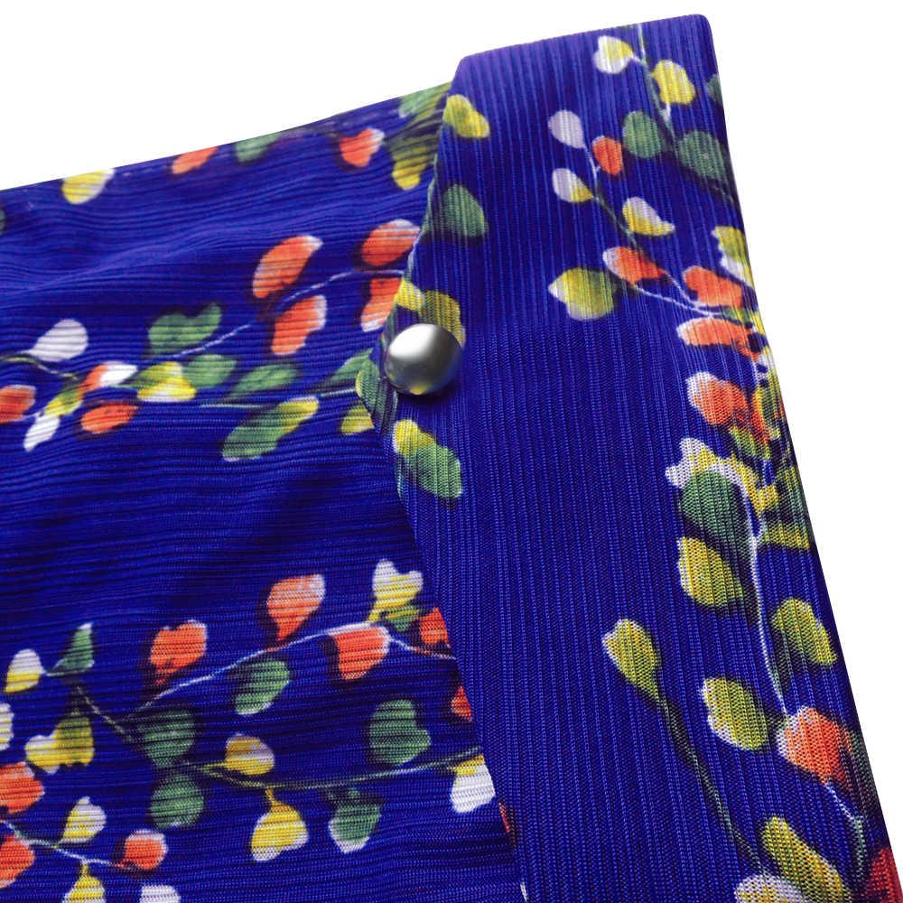 YTL размера плюс женские летние топы цветочный принт Половина рукава Повседневные Блузки женские винтажные кнопки свободная туника рубашка H106