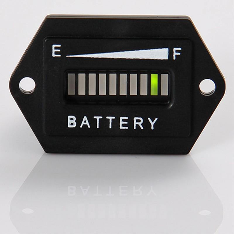 RL-BI001 Digital LED State Battery Charge Indicator For Golf Cart, Motorcycle, Boat Etc.12V,24V