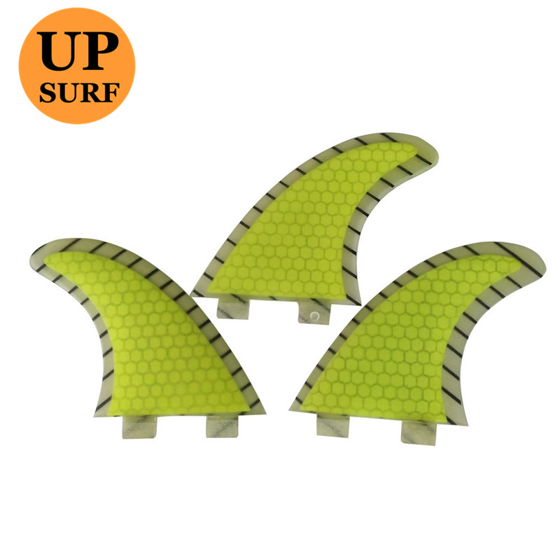 Quilhas FCS G5 Surfboard Fins yellow sup Surfing Fins Honeycomb thruster fin surf in Surfing from Sports Entertainment