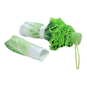 Image 2 - Creative Cabbage Umbrella Lettuce Folding Sunny and Rainy Umbrella Anti mite Beach Funny Vegetable Umbrella Parasol