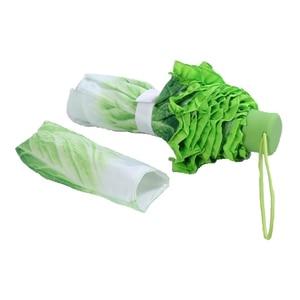 Image 2 - Sombrilla creativa de col, paraguas plegable de lechuga, paraguas soleado y lluvioso, antiácaros para playa, sombrilla de verduras divertida