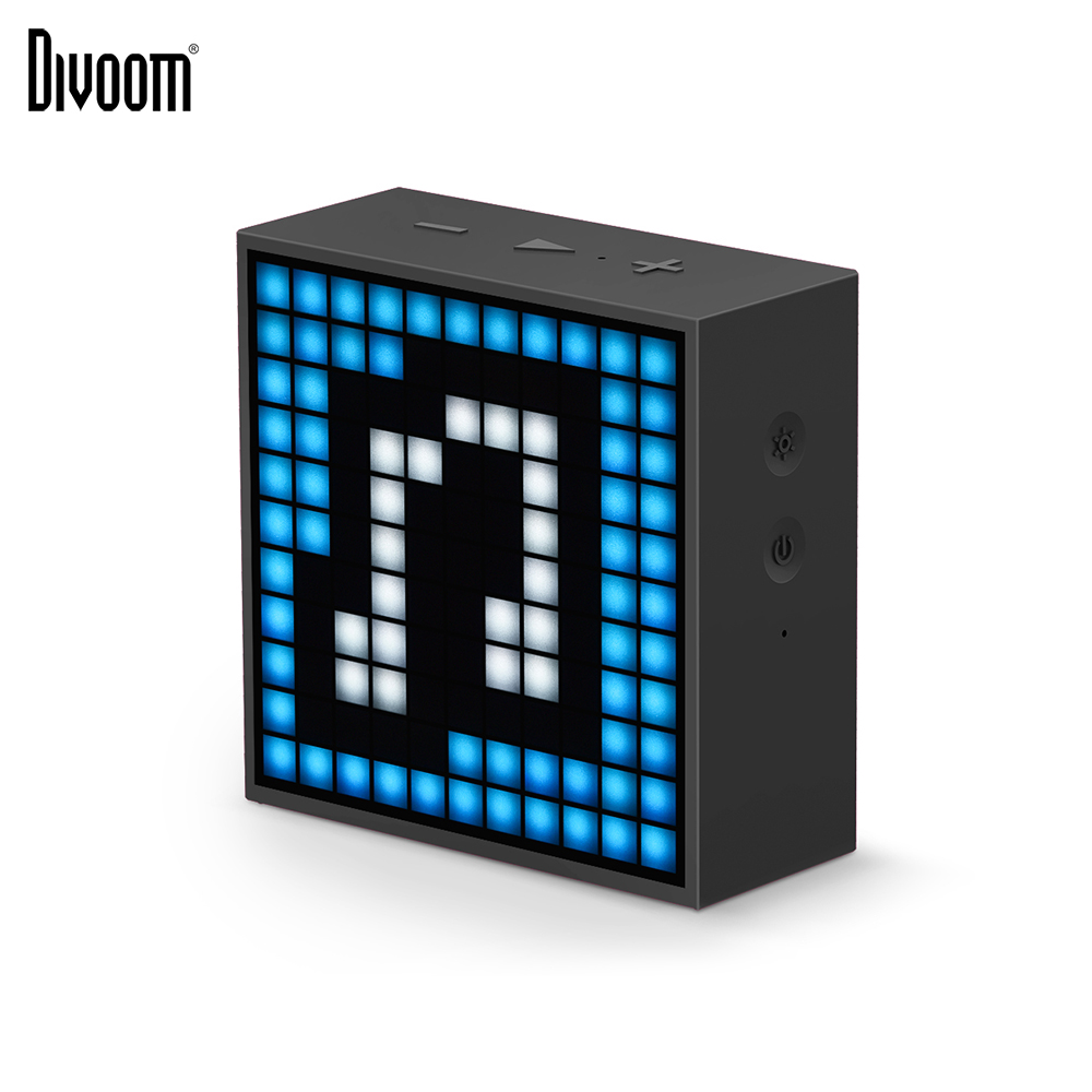 Mini haut-parleur portatif intelligent de réveil de Bluetooth de Timebox de Divoom avec l'application compatible pour IOS Android Xiaomi