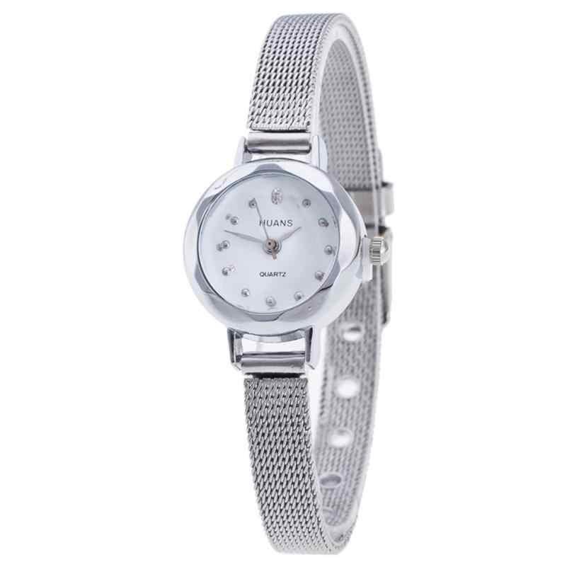 Reloj de pulsera de cuarzo analógico para mujer con diseño de malla dorada y vestido de tirantes timazone #401