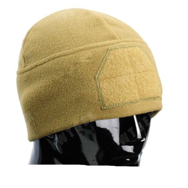 New Unisex Casual Solid Color Hip-hop Skullies Bonnet Cap Gorro Winter Fashion fleece Cap with Front velcro fleece hat