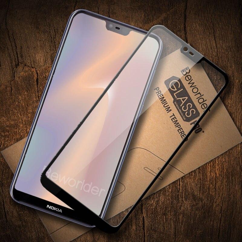 מלא זכוכית עבור Nokia 7 בתוספת 8 1 2 3 5X6 Nokia 5 6 5.1 3.1X6 סרט מסך מזג זכוכית עבור Nokia 6 2018 2.1 3.1 5.1 מגן