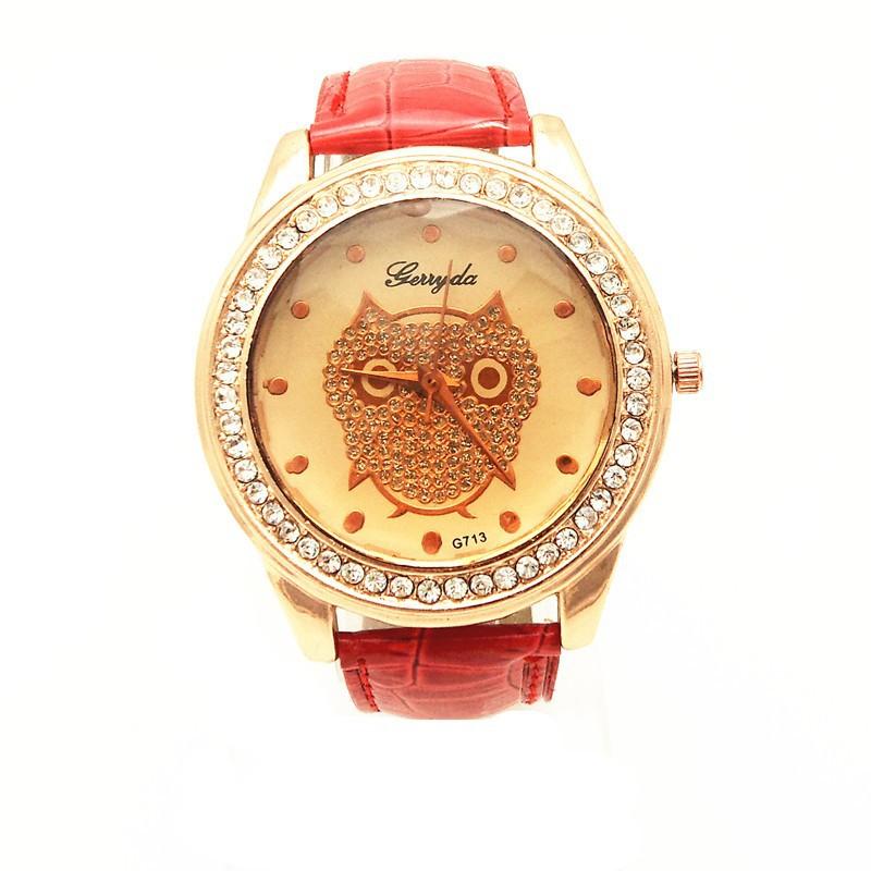 GR rustle случай украшения, Casa Mo ремень леди часы, кварцевый механизм-gerryda 713, SA циферблат, мода кварц леди часы
