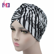 цена на 2017 Fashion Women Twist Turban Headband Bandanna Cap Print Headwear for Chemo Hijab Turbante Hat