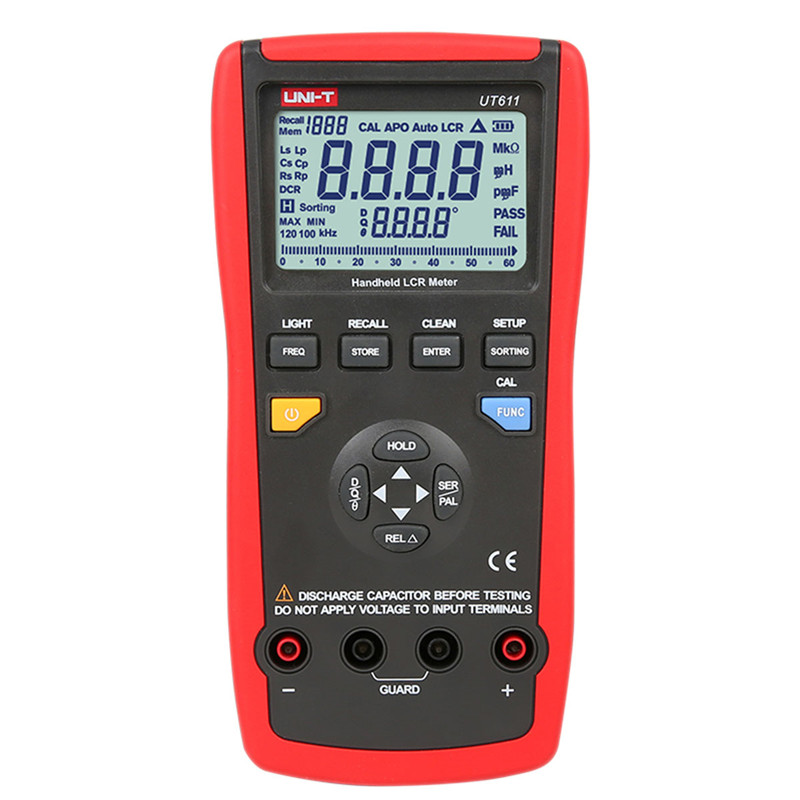 2017 Portable Handheld UNI-T UT611 Professional LCR Meters Inductance Capacitance Resistance Frequency Tester uni t ut601 ut602 ut603 professional inductance capacitance meters resistance capacitance tester ohmmeters
