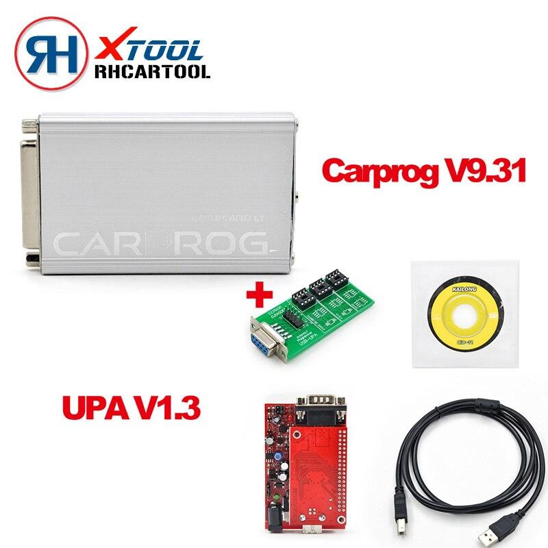 Цена за Бесплатная доставка DHL автомобиль прог ПОЛНЫЙ V9.31 Профессиональный CARPROG Repair Tool + УПА USB программист V1.3 в одном пакете ЭБУ Программирование