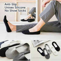 Dropshipping 2019 Anti-Slip Unisex Silicone No Show Socks(5 Pairs Set)