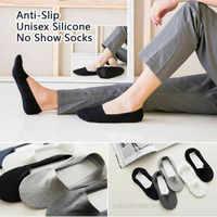 Dropshipping 2019 Anti-Slip Unisex Silikon No Show Socken (5 Pairs Set)