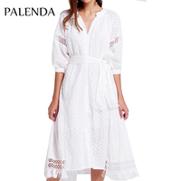 2019 new white dress long maxi embroidery kaftans vyshyvanka women boho