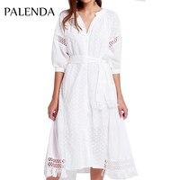 2019 new white dress long maxi embroidery kaftans vyshyvanka women boho