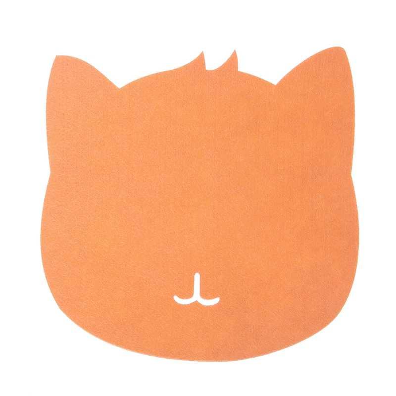 Universale Addensare Mouse Pad Panno di Feltro 200x200x3 millimetri Simpatico Gatto Mouse Pad Zerbino