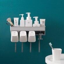 Organiseur de salle de bain, créatif porte brosses à dents, avec tasses à dents, pour 2 personnes, 3 ou 4 personnes, Style nordique, Design Simple, rangement de salle de bain