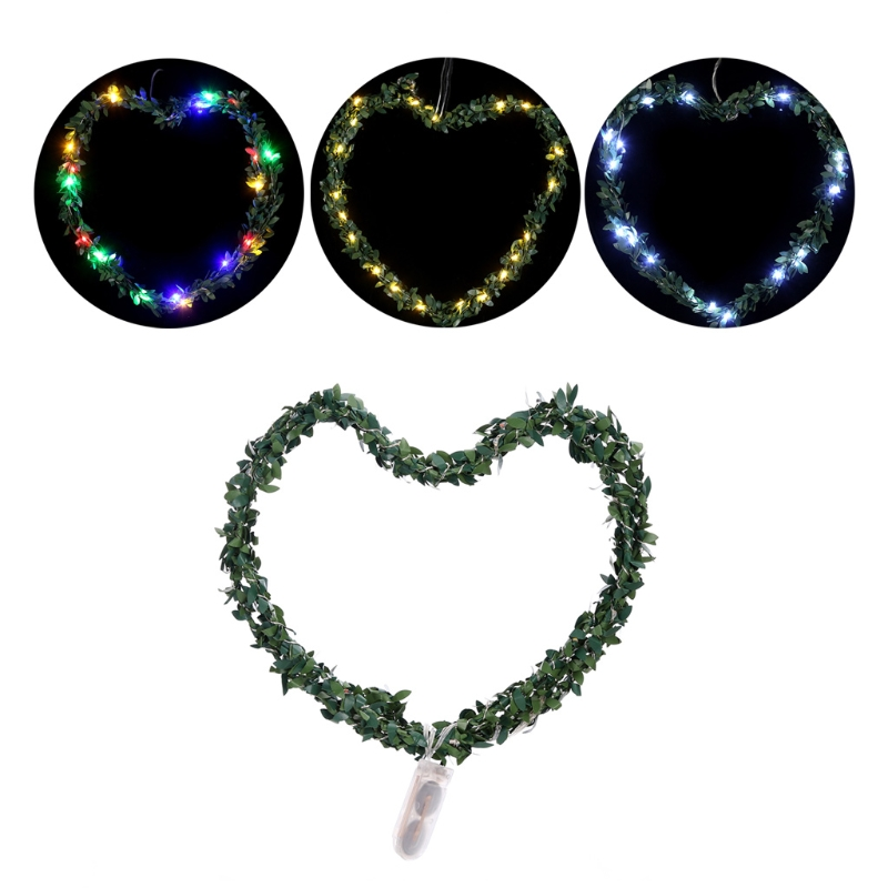 2m 20 LED Waterproof Leaf Garland Copper Wire Fairy String Light Battery Operated Xmas Wedding Christmas Decor Party Outdoor