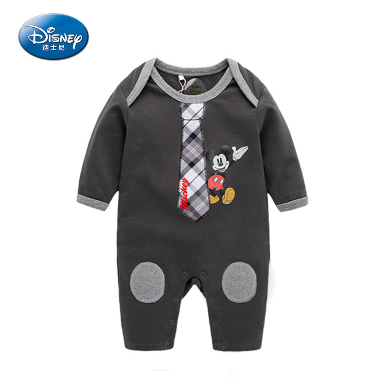 Disney 2017 New Baby Rompers Cartoon Cute Long Rompers Cotton Mickey Minnie Jumpsuit Newborn Boy Clothes Autumn-Spring Dress cotton baby rompers set newborn clothes baby clothing boys girls cartoon jumpsuits long sleeve overalls coveralls autumn winter