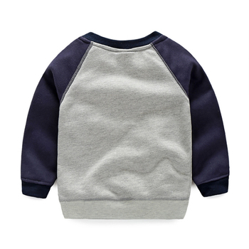Boys Sweatshirt Spring&Autumn New Costume For Kids Sailboat Pullover Tops Casual Baby Boy Clothes Navy Style Children's Clothing