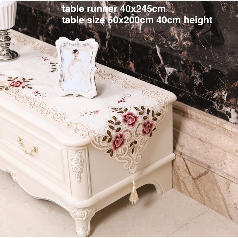 Bench Table Runner Tablecloth TV Flat Screen LCD Cover Curtain Tissue Box Cover Placemat Decorative Hood