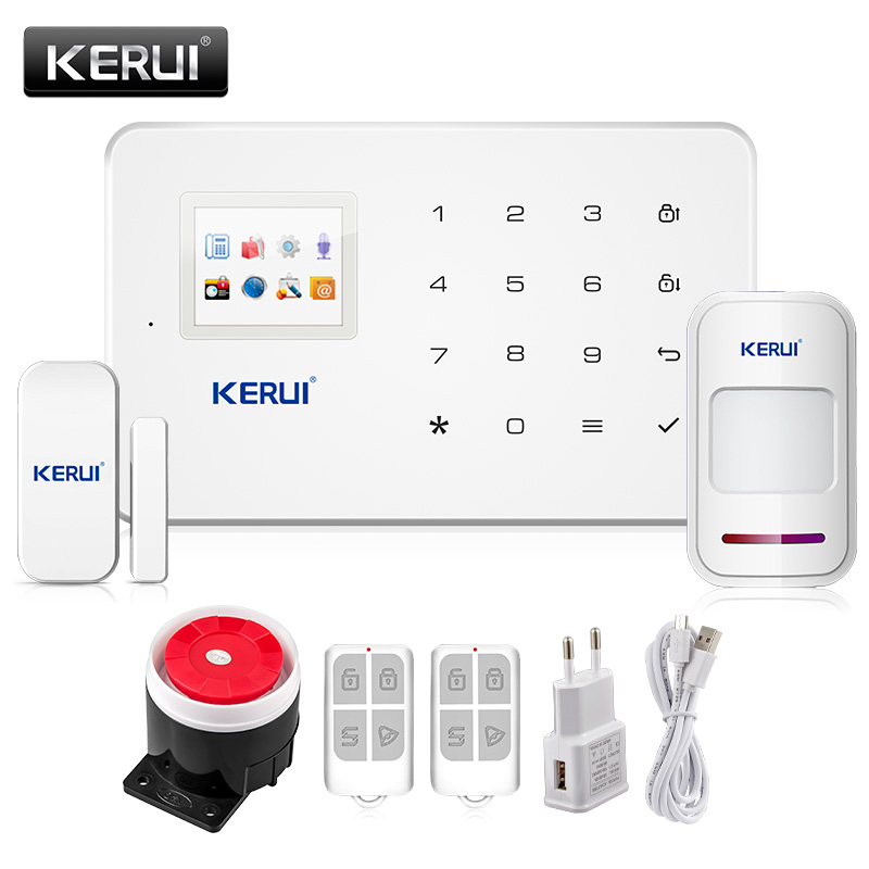 Kerui G18 Android App iOS App control wireless security system gsm alarm system wireless magnetic window
