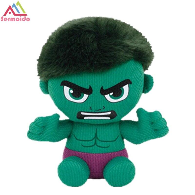 Sermoido ty 6 Beanie Боос Халк Marvel детские плюшевые регулярные чучело Коллекционная мягкие игрушки куклы