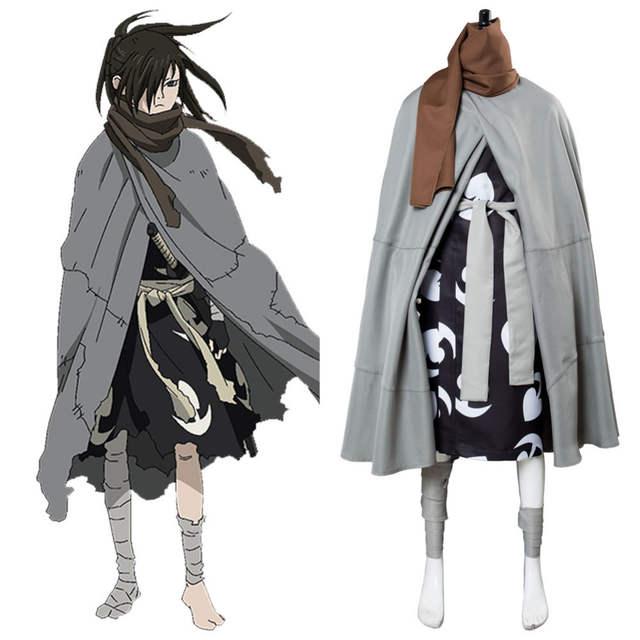 ee603272ad3c8 Anime Manga Cosplay Dororo Hyakkimaru Costume Hyakkimaru Cosplay Costume  Men Full Set Halloween Costume