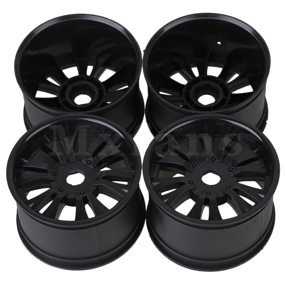 Mxfans Plastic 12-Spoke Wheel Rims Hexagonal Joints 17mm RC 1:8 Truck - Store store