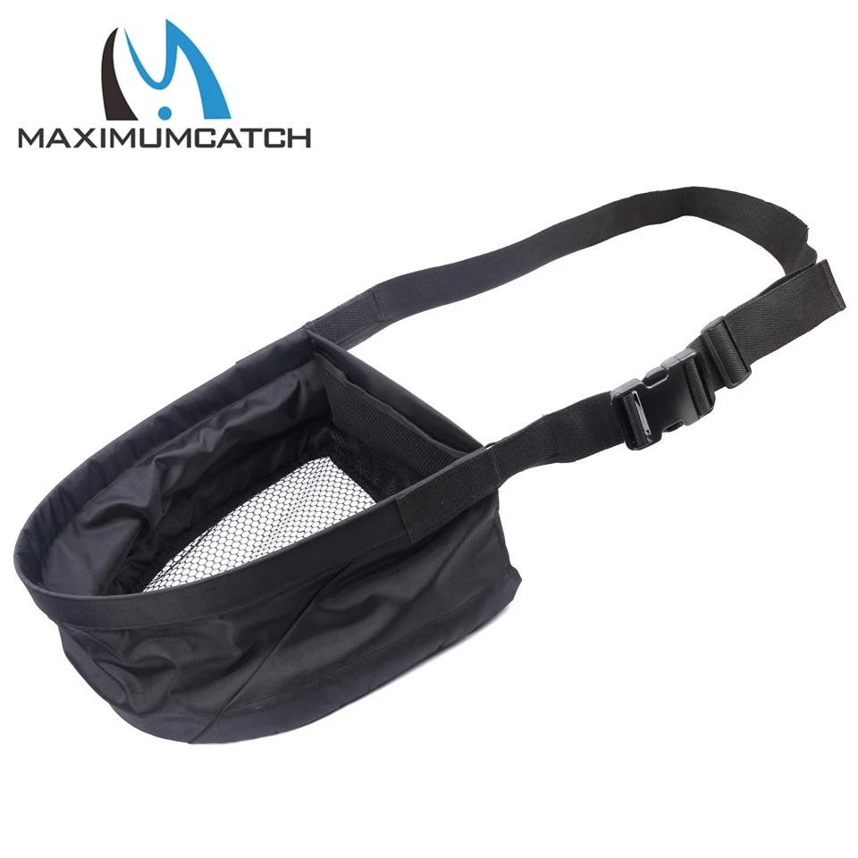 Maximumcatch-cesta de fundición con bolsa de transporte, cesta de pesca con mosca de drenaje rápido ajustable