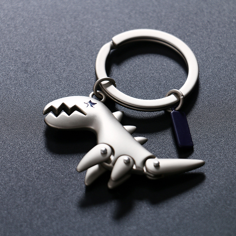 Dinosaur high quality key rings crystal imperial key chains animal dinosaur keychains man car keyrings bag charms men jewerly