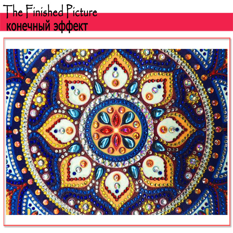 RUBOS DIY 5D Diamond Embroidery Mandala Sun Triptych Diamond Painting Multi Picture Rhinestones Pearl Big Mosaic Sale Wall Decor (58)