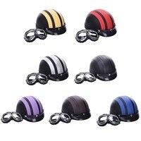 Motorcycle Helmet Unisex Men Women Bike Bicycle Helmet Motorcycle Motor Open Face Half Helmet Visor Protective