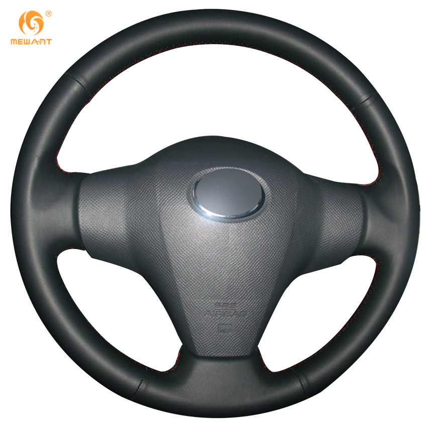 MEWANT Black Genuine Leather Car Steering Wheel Cover for Toyota Yaris Vios RAV4 2006-2009 Scion XB 2008 beautiful and pract fabric rear trunk security shield cargo cover black for toyota rav4 rav 4 2006 2007 2008 2009 2010 2011 20