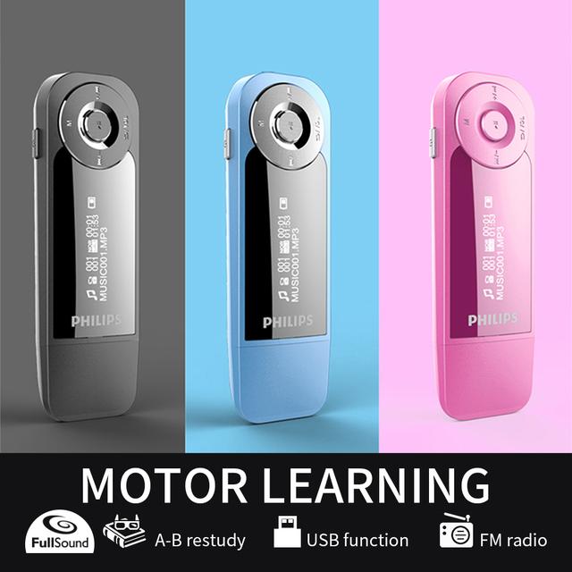 Philips 8GB Mini Clip Music MP3 Player With Screen Mini Clip Digital Mp3 HIFi Player with FM Radio USB