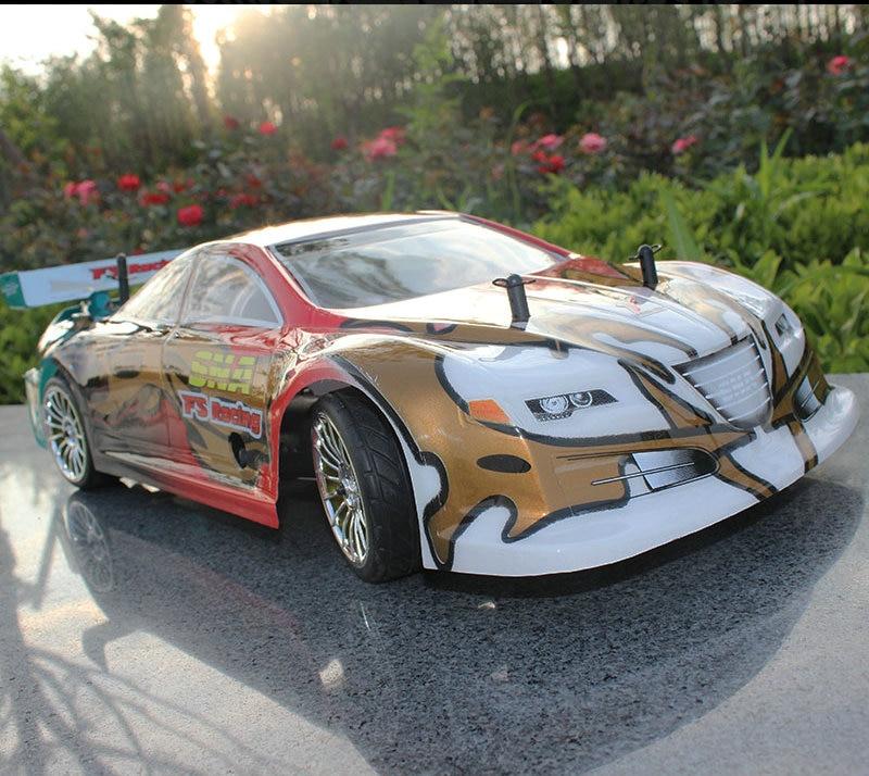 Carburant télécommande à piles voiture 1:10 radio contrôle voiture Carburant quatre roues motrices haute vitesse modèle voiture méthanol de voiture de course