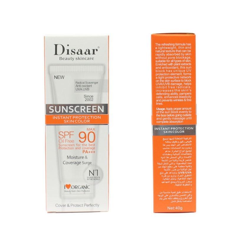 Солнцезащитный крем для лица, красота, уход за кожей, SPF 90, без масла, радикальный Мусорщик, антиоксидант, UVA/UVB, 40 г, крем для лица, против солнца