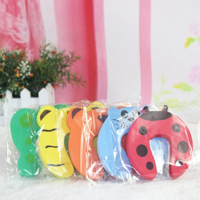 10pcs/Set Children Safety Cartoon Door Clamp Pinch Hand Security Stopper Cute Animal Baby Safety Door Stopper Clip Security 2019 4
